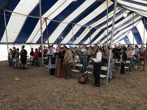 Over 150 folks gathered together under the activity tent on Sunday morning to worship God.  Ten people surrendered their hearts to God and received Jesus Christ as their personal Saviour.