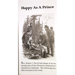 Happy As a Prince - trifold Gospel tract from the USCC delegate at Antietam