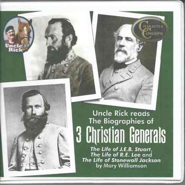 7 CD set of a reading 3 books on the life and Christian character of Robert E Lee; Stonewall Jackson and JEB Stuart
